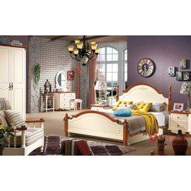 ^~紅蘋果傢俱 ^~ 231 北歐系列 單人床 雙人床 床 4尺 5尺 6尺 實木 賣場