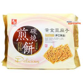 【吉嘉食品】黃金亞麻子 碳燒煎餅(經濟包) 1包270公克75元{222-511:1}