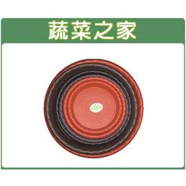 【蔬菜之家015-E26】玫瑰花欧式浮雕花盆1尺5专用水盘(砖红色.棕色)
