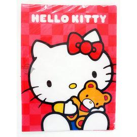 Hello Kitty 凱蒂貓 KT 20頁資料簿 2版  紅色 與熊同樂