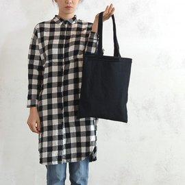 帆布肩背包│黑色│素色簡約直式布包