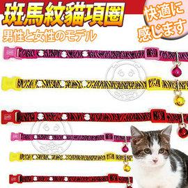 DAB PET》可愛貓咪斑馬紋貓項圈-加長型L號 三款顏色