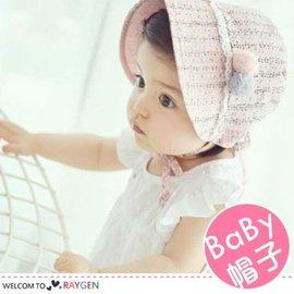 雙毛球點點寶寶空頂胎帽 遮陽帽 公主帽【HH婦幼館】