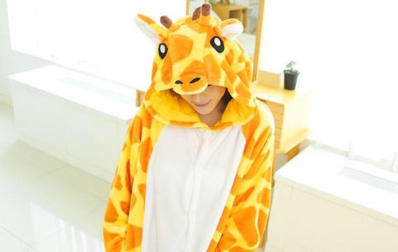 天姿订制款绒毛可爱小鹿连身动物装拍摄写真服派对舞台演出批发代理