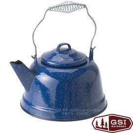 【美國 GSI】Tea Kettle 經典琺瑯大容量提把茶壺(2.5L 耐高溫).泡茶壺.開水壺.搪瓷咖啡壺.琺琅壺 非logos coleman/14021 藍