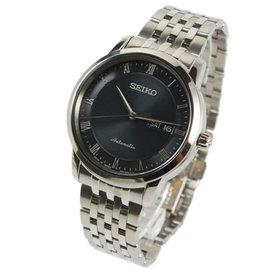 ~萬年鐘錶~SEIKO PRESAGE 精工4R36 都會機械錶 透明底蓋 銀x深藍 39