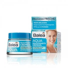 德國DM藥妝超市~Balea 芭樂雅~AQUA系列水凝強效補水滋潤保濕面霜 日霜 晚霜50
