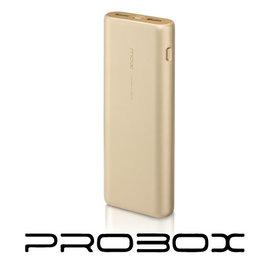PROBOX 典雅美型 15600mAh^(三洋電芯^)雙輸出行動電源 BSMI 香檳金