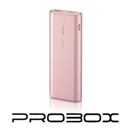 PROBOX 典雅美型 15600mAh^(三洋電芯^)雙輸出行動電源 BSMI 玫瑰金