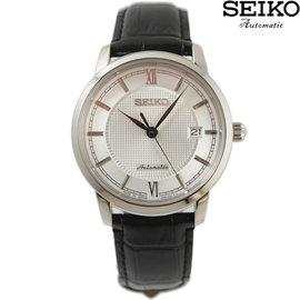 ~萬年鐘錶~SEIKO PRESAGE 精工4R35 都會機械男錶23石 日期顯示 透明底
