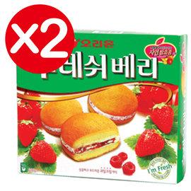 萬花筒 ~fresh草莓夾心蛋糕~首爾  ORION 168g^(盒^)^~2 香甜好吃
