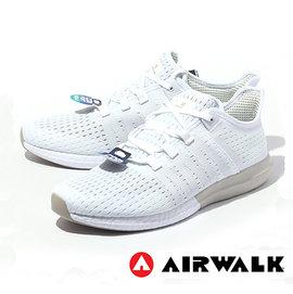 AIRWALK 慢跑鞋 全白 編織 襪套 SOLAR BOOST ULTRA 男款 A61