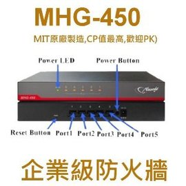 MHG~450多WAN Firewall安全路由器 防火牆~萬元內 CP值 的防火牆