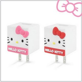 Hello Kitty 立體QQ 1A輕巧USB充  KT~CR04