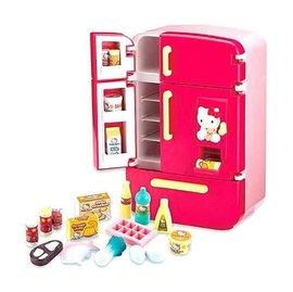 KT豪華冰箱 Hello Kitty 凱蒂貓 扮家家酒 廚房用品 烹飪用具 飲料 食物 角