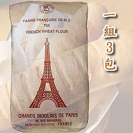 ~法國 麵粉~900g 包~6包 組~法國 麵粉 莫比T55  一組3包  口感紮實的歐洲