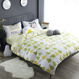 ~PAINT~北歐風格,蜜梨,精梳棉緞貢,雙人床包,兩用薄被套四件組 A010115180