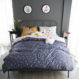 ~PAINT~北歐風格,三角心情,精梳棉緞貢,雙人床包,兩用薄被套四件組 A0101151