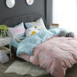 ~PAINT~北歐風格,粉嫩沙漠,精梳棉緞貢,雙人床包,兩用薄被套四件組 A0101151