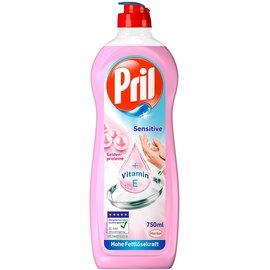 ^~機油倉庫^~ Pril 濃縮高效能洗碗精 敏感手 含唯他命E油 粉紅色
