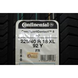 ^~機油倉庫^~馬牌Continental csc5 225 40 18 92Y 輪胎 價