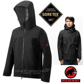 【瑞士 MAMMUT 長毛象】男新款 GORE-TEX All Round Jacket 頂級專業防水透氣風雨衣.防水外套風雨衣.登山雨衣/22260-0001 黑