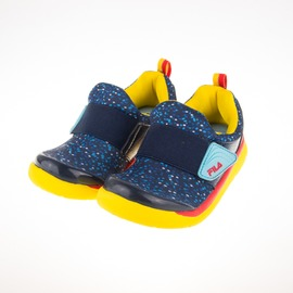 FILA  穿脫式 兒童 輕量 記憶鞋墊 慢跑鞋-藍 7-C858Q-392