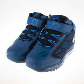 FILA  黏扣 兒童全氣墊 籃球鞋-藍 3-B815Q-303