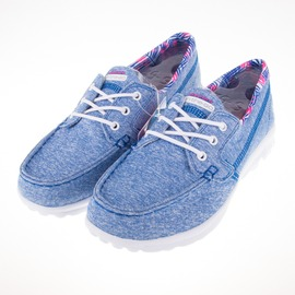 Skechers  GO Walk 女款健走帆布鞋-藍 81079LBLU