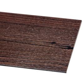 MAKINOU 奈米耐磨抗菌長型自黏木紋地磚^(18入^)~黑檀木