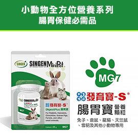 ~SINGEN信元~MG7小寵腸胃寶營養顆粒60g~多多與果兔~