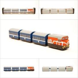 ~TRC 鐵道故事館╱ 品~~台鐵R100^(橘^)普通車~鐵支路迴力小列車╱ 門市 品售