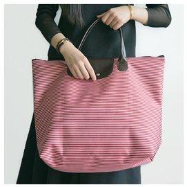 Dou shop 細條紋環保超大可折疊 袋