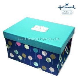 Hallmark圖紋風長型加高 盒^(氣球^) M