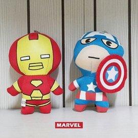 Marvel Q版復仇者聯盟 娃娃吊飾 鋼鐵人 美國隊長