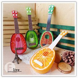 【Q禮品】A3042 水果造型烏克麗麗/可彈奏/四弦/樂器/兒童學習/吉他/電吉他/玩具/禮品贈品
