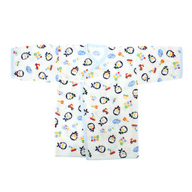 藍色企鵝PUKU~印花紗布肚衣50cm~水