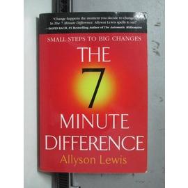 ~書寶 書T9╱原文書_ORZ~The 7 Minute Difference_Allys