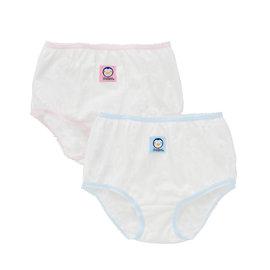 藍色企鵝PUKU~女童緹花內褲2入米~4號