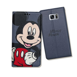 Samsung Galaxy S7 edge 5.5吋✒ 迪士尼授權正版 手繪風磁力皮套(手繪米奇)