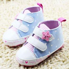 森林寶貝屋^~可愛星星休閒鞋^~學步鞋^~幼兒鞋^~寶寶鞋^~娃娃鞋^~童鞋^~粘扣 ^~