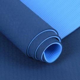 ~GL160~雙層雙色TPE環保6MM瑜珈墊 環保加長 墊 止滑墊 防滑墊 地墊