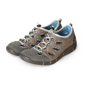 女  SPEEDY DUCK 花漾輕量 休閒鞋 灰 鞋全家福