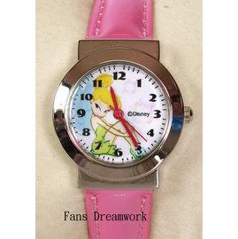 ~卡漫屋~ Tinkerbe 兒童錶 金屬框 皮革 ㊣版 彼得潘 小仙女 小精靈 手錶 卡