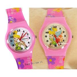 ~卡漫屋~ Tinkerbe 兒童錶 膠錶 ㊣版 彼得潘 小仙女 小精靈 手錶 卡通錶 女
