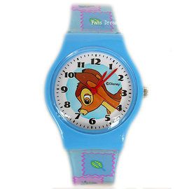 ~卡漫屋~ 小鹿斑比 手錶 ㊣版 Bambi 女錶 卡通錶 兒童錶 膠錶 ^~ 2 6 0