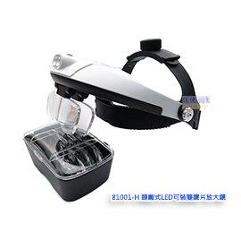 81001~H~ 型頭戴式可裝雙鏡片LED照明放大鏡 佳倢 網