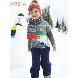 小確幸 KR214 款秋上新假兩件可愛毛帽北極熊刺繡款長袖純棉T