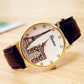 韓國手錶女學生埃菲爾鐵塔 潮流時裝表 簡約閨蜜一對手錶女~潮衣部落格~