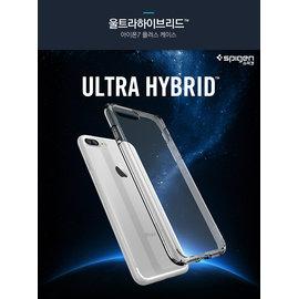 【贈9H玻璃貼】SPIGEN 韓國 SGP iPhone 8 iPhone 7 Plus 5.5吋 Ultra Hybrid 透明防刮背蓋 空壓手機殼 透明背蓋式保護殼 i7+ i8+